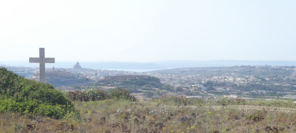 View of Gozo from Ghajn Ghammar