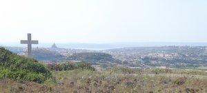 View of Gozo from Ghajn Ghammar