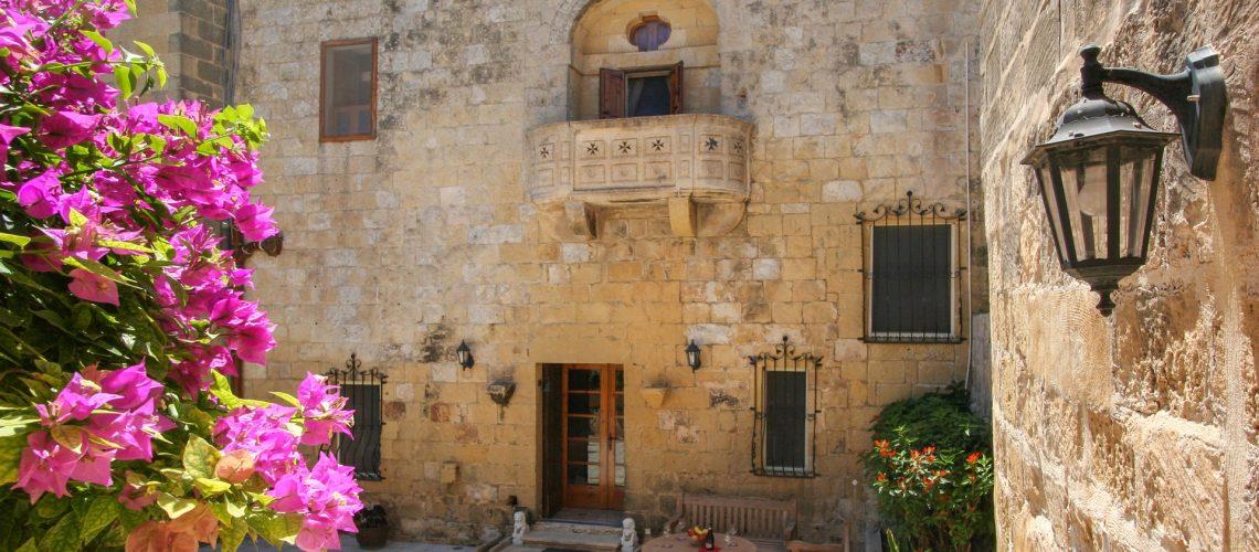 Grand courtyard entrance